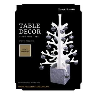 Anni Silver Xmas Tree Table Decoration - Place Matters