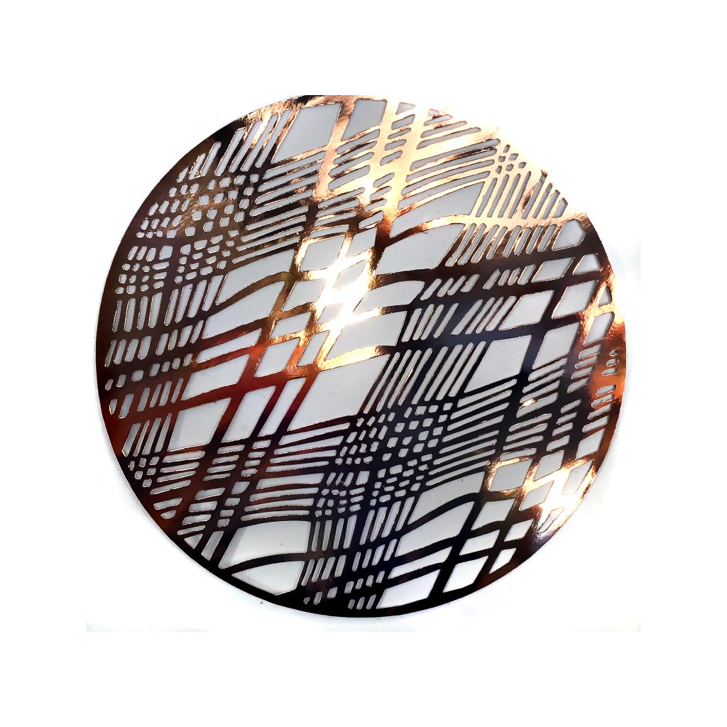 Copper Placemats (Weave Design)(Round) - Place Matters