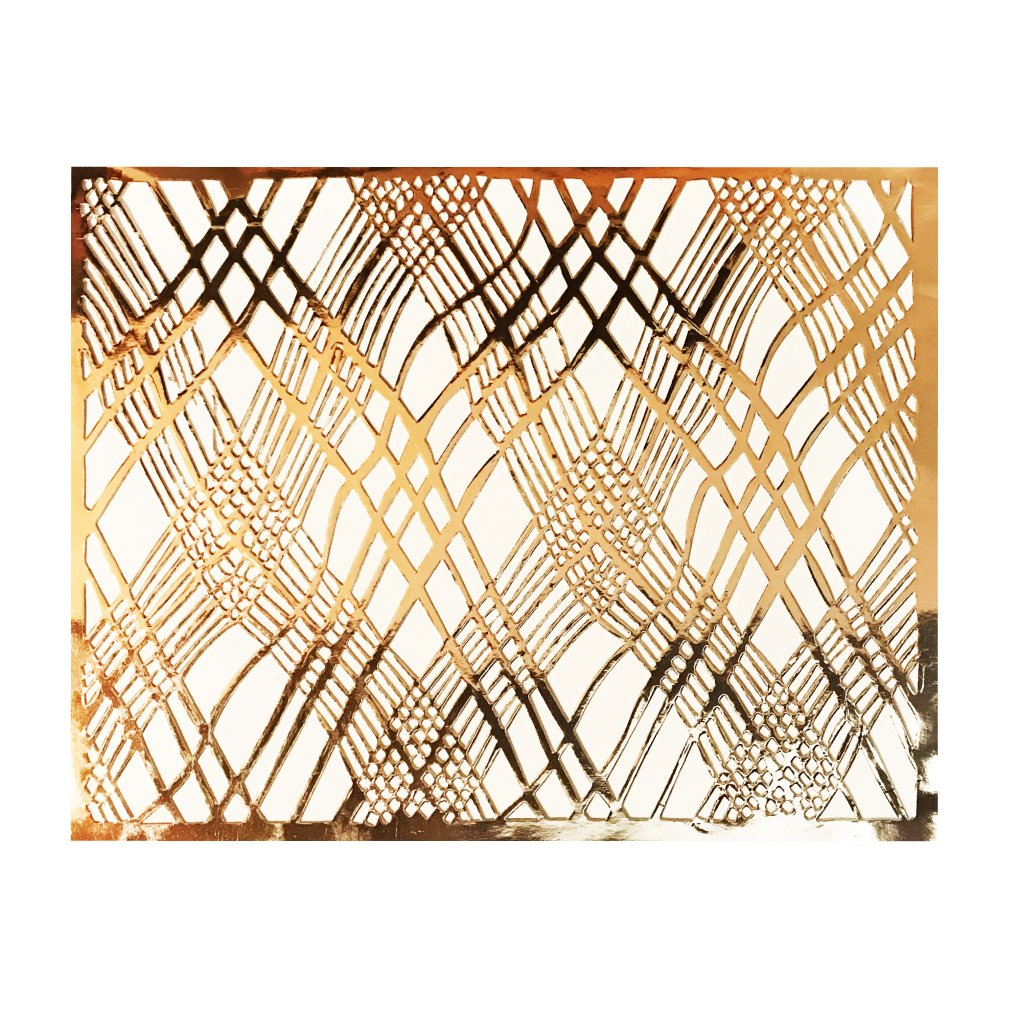 Copper Placemats (Weave Design)(Rectangle) - Place Matters