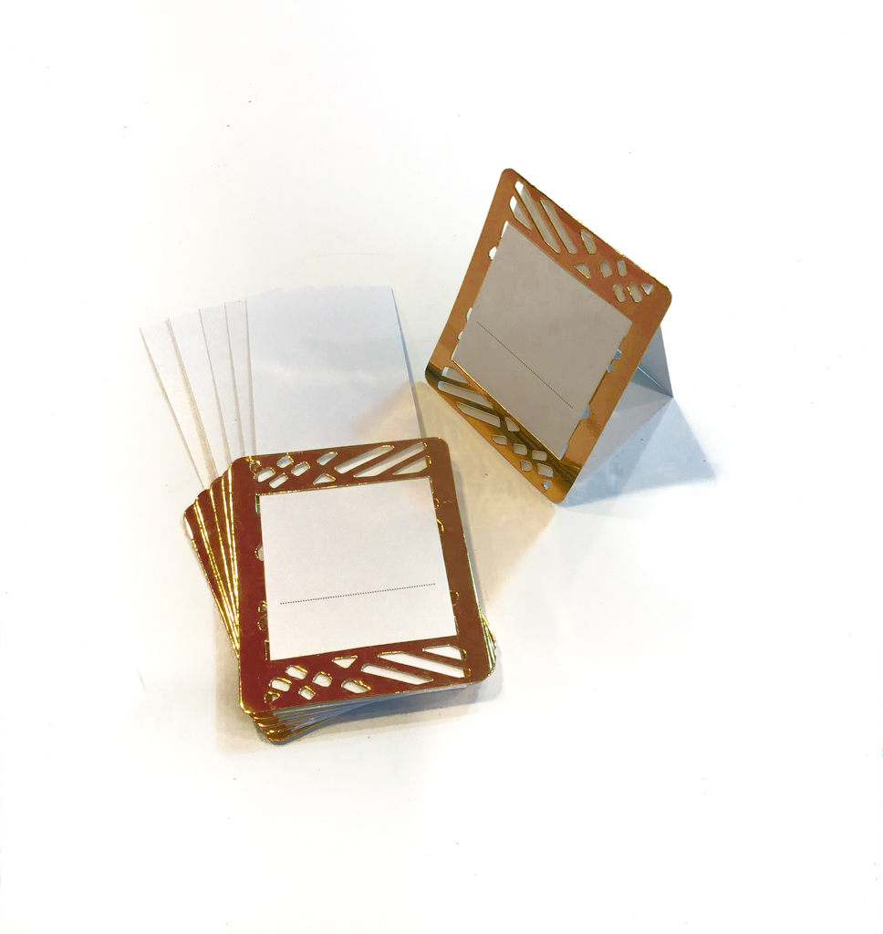 Copper Place Cards (Pack of 20)(Weave) - Place Matters