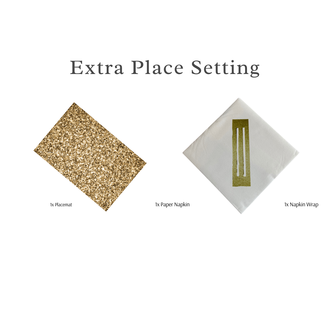 Single Place Setting (Glitter Rectangle Design) - Place Matters