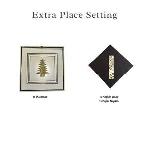 Single Place Setting (Anni Christmas Design)GOLD - Place Matters