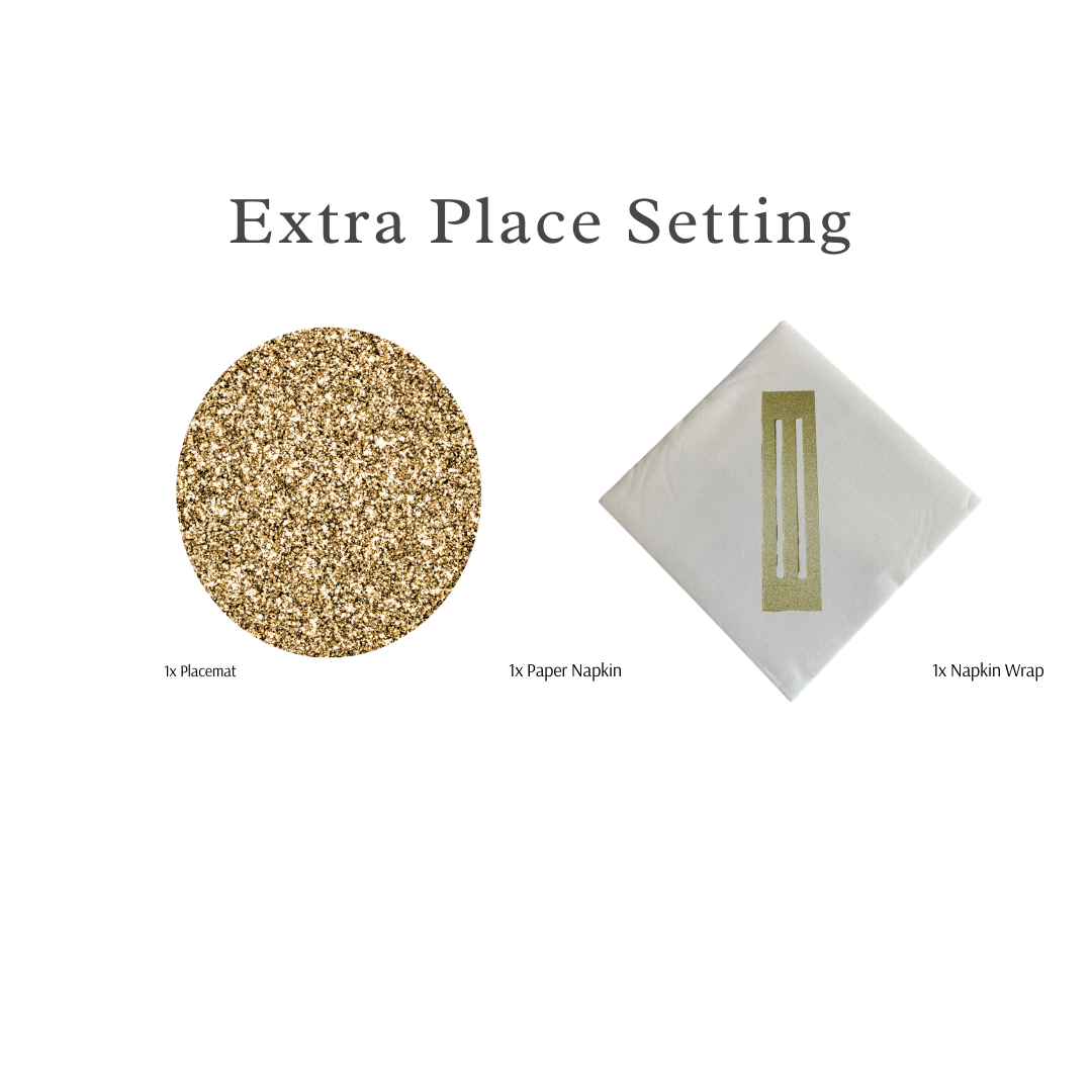 Single Place Setting (Glitter Round Design) - Place Matters
