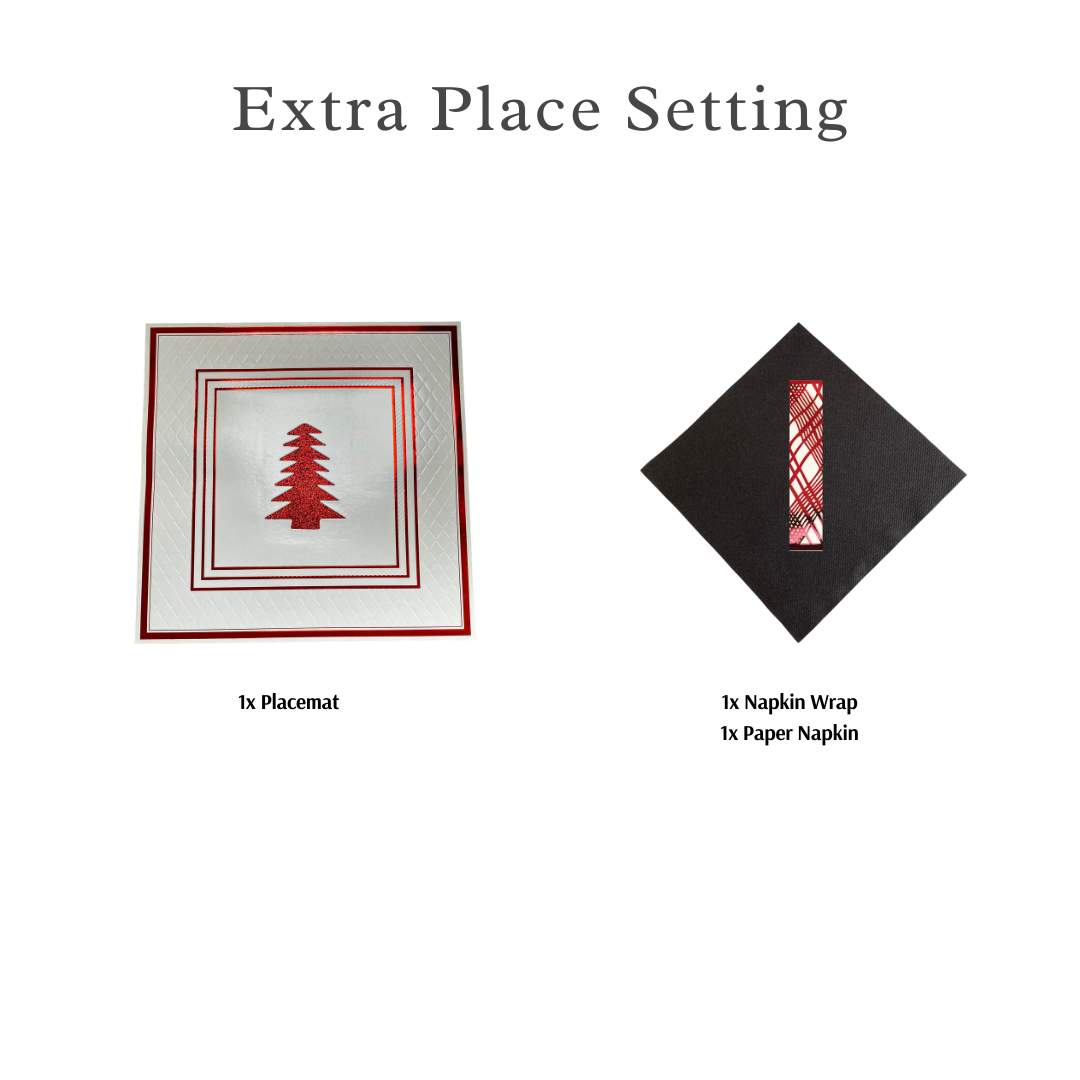 Single Place Setting (Anni Christmas Design)Red - Place Matters