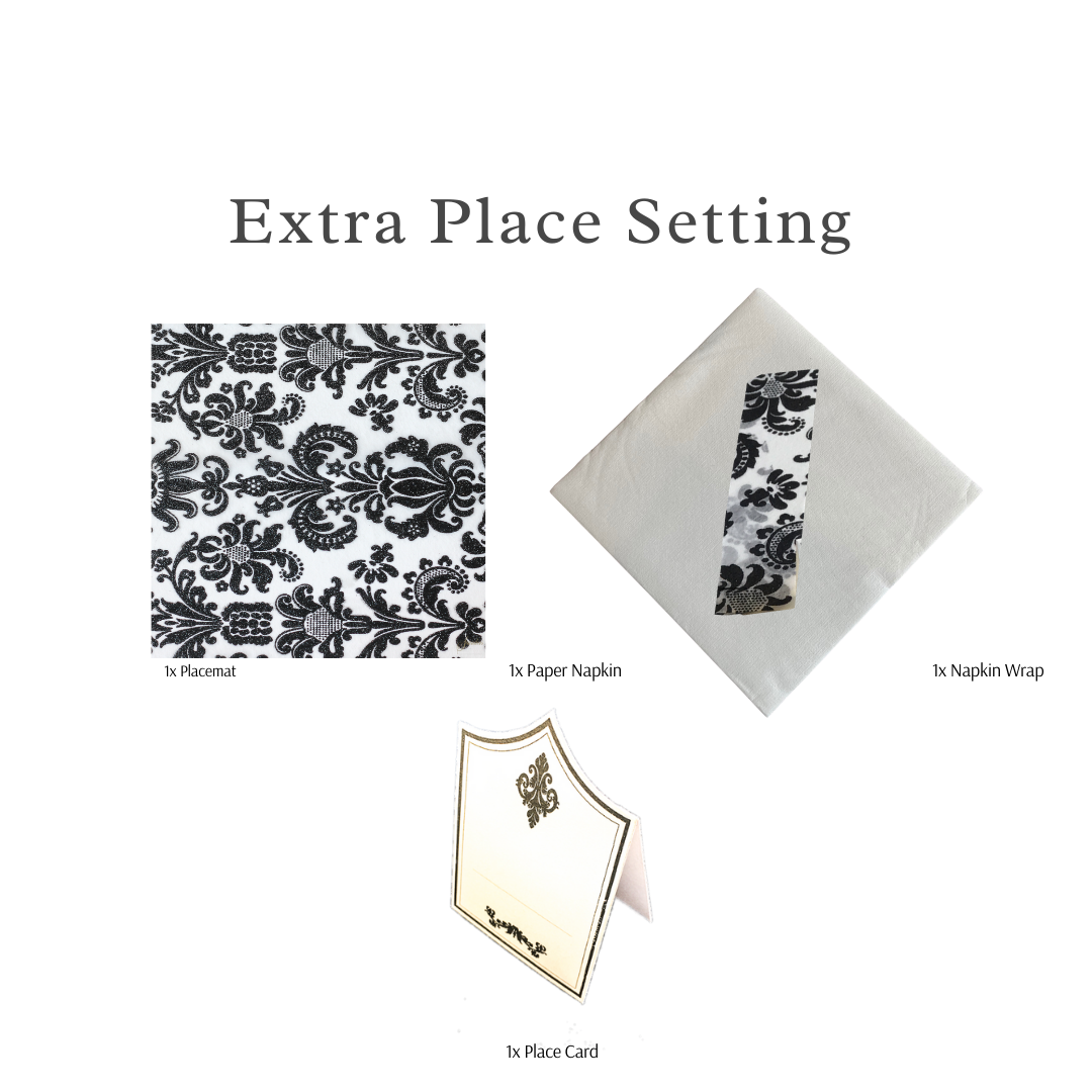 Single Place Setting (Royale Square Design Black)PC - Place Matters