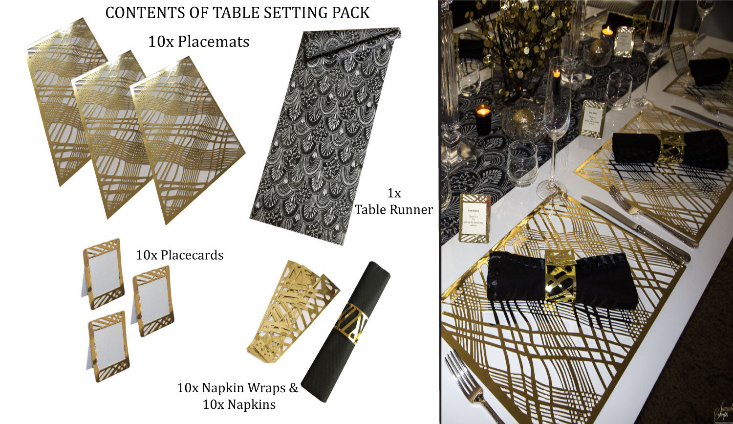 Gatsby Table Setting Pack