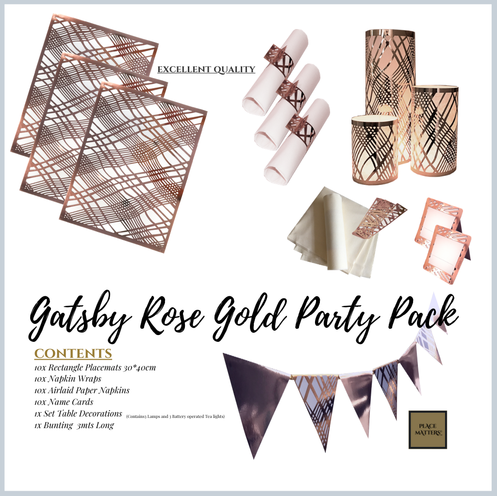 Gatsby  Rose Gold Party Pack - Place Matters