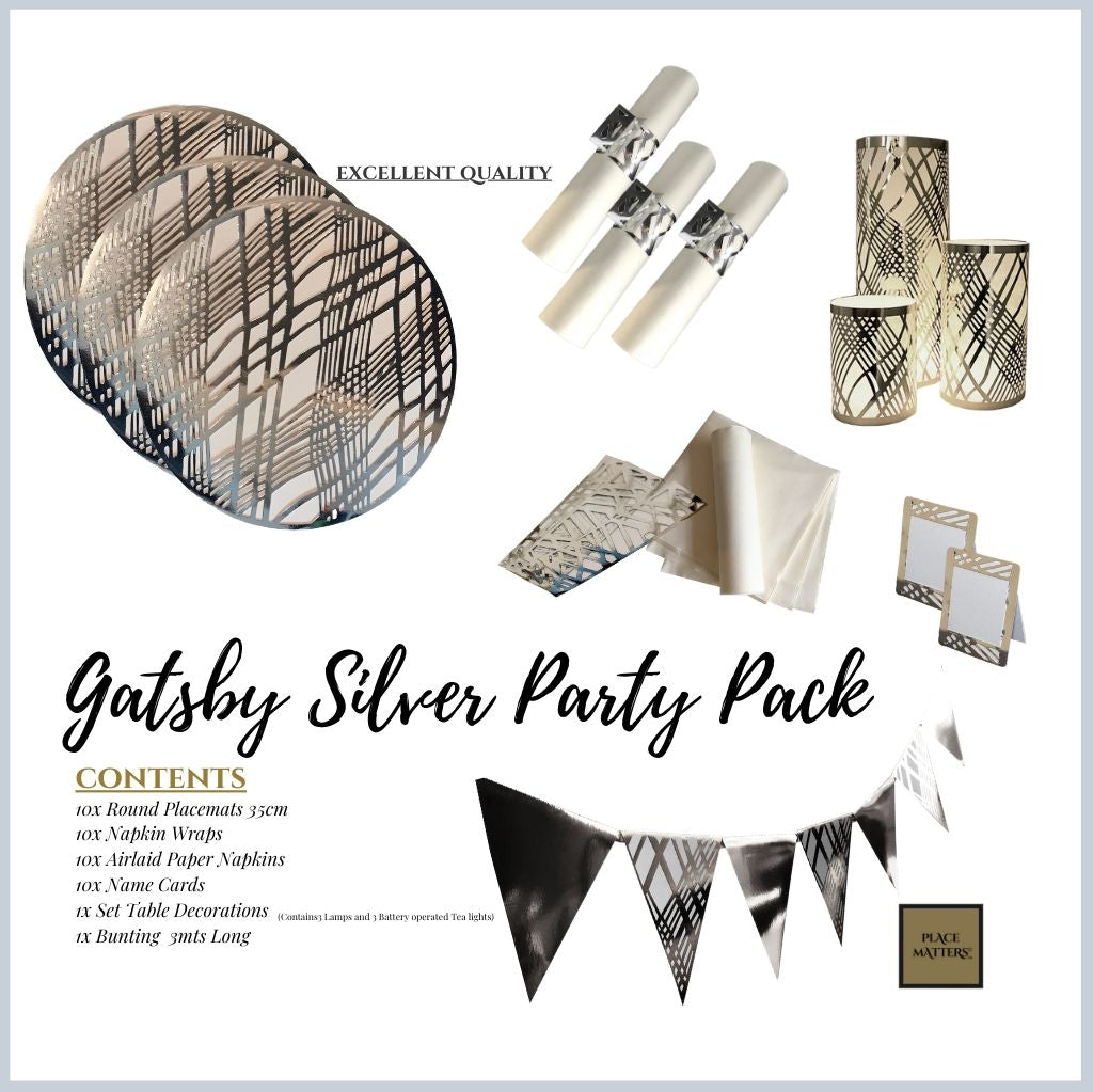 Gatsby Silver Party Pack - Place Matters