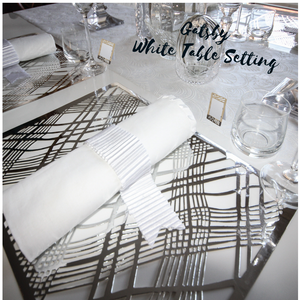 Gatsby White Table Setting Pack (for 10 People) - Place Matters