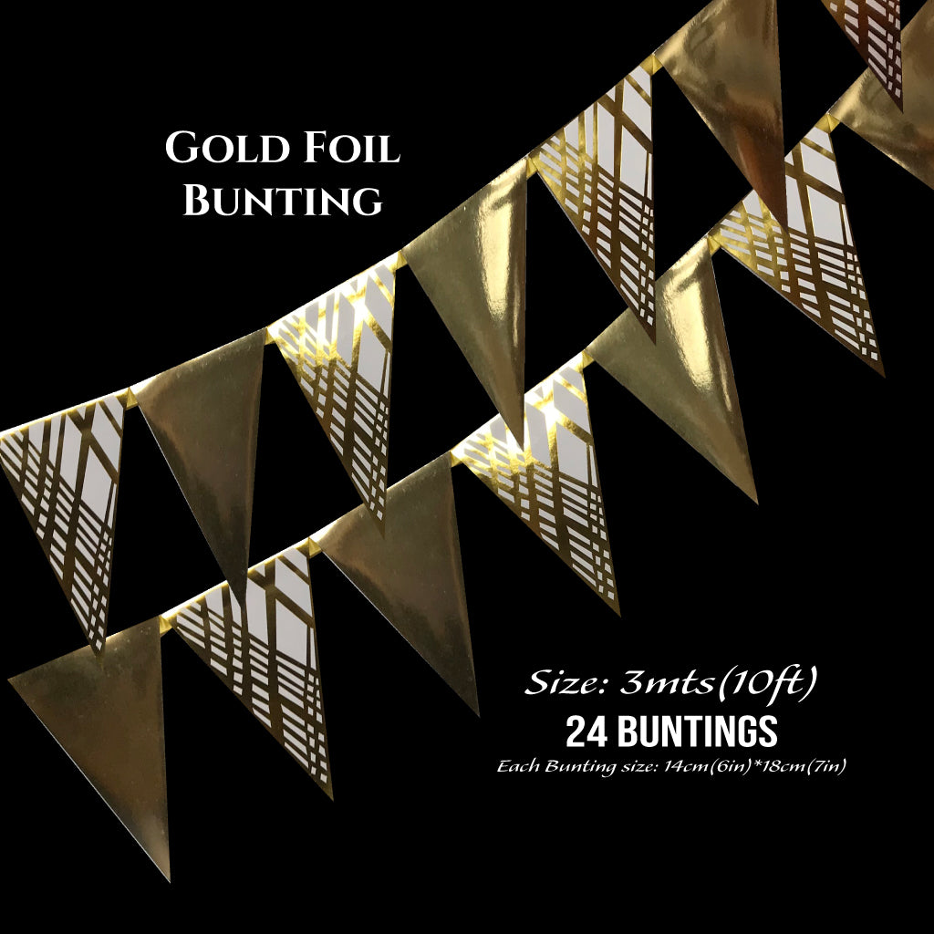Gold Foil Buntings (Weave) - Place Matters