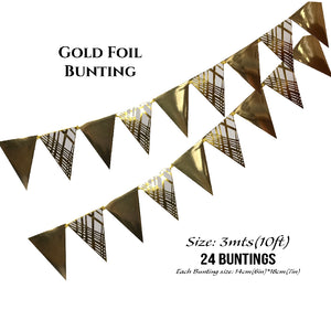 Gold Foil Buntings - Place Matters