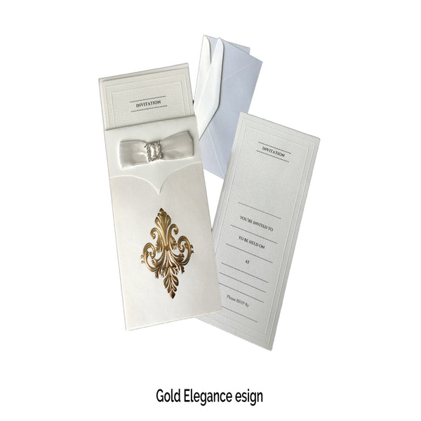 Gold Invitations (Pack of 20) - Place Matters
