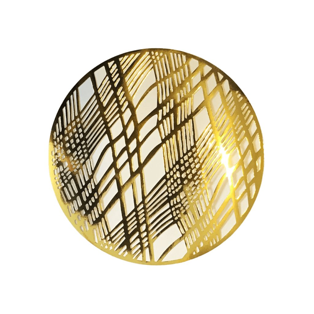 Gold Placemats (Weave Design)(Round) - Place Matters