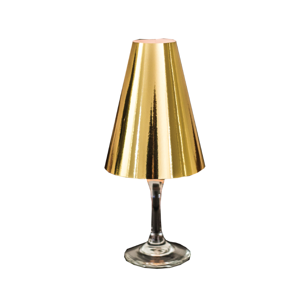 Gold Wine Glass Lamp Shades (Pack of 6) - Place Matters