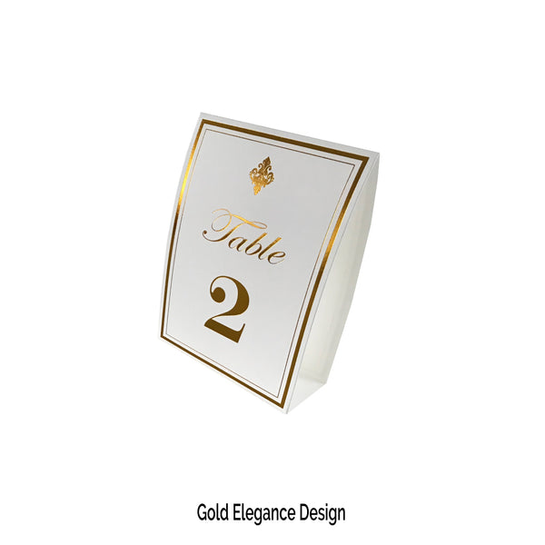 Gold Table Numbers (Pack of 12) - Place Matters