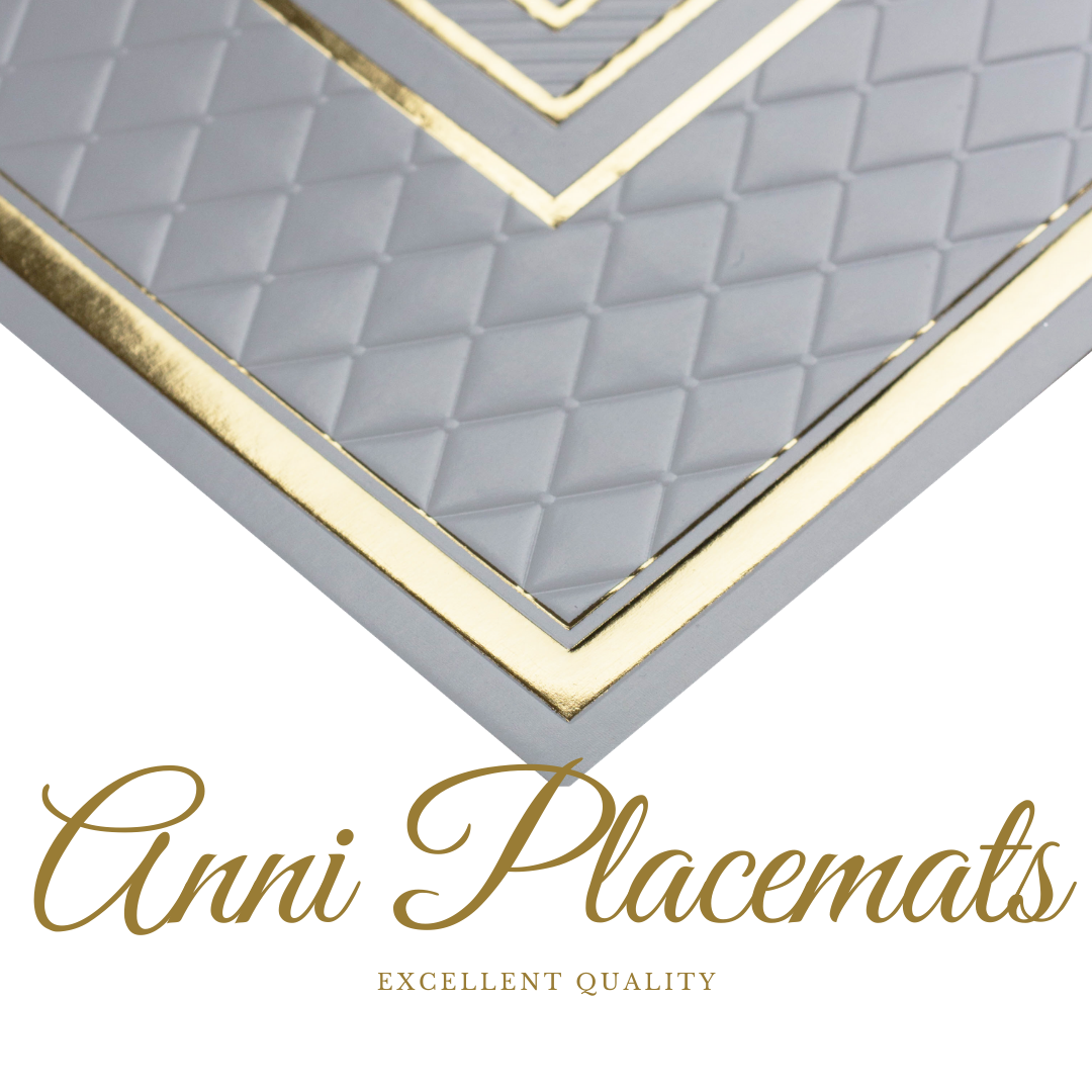 Gold Placemats Foil Chic(Rectangle) - Place Matters