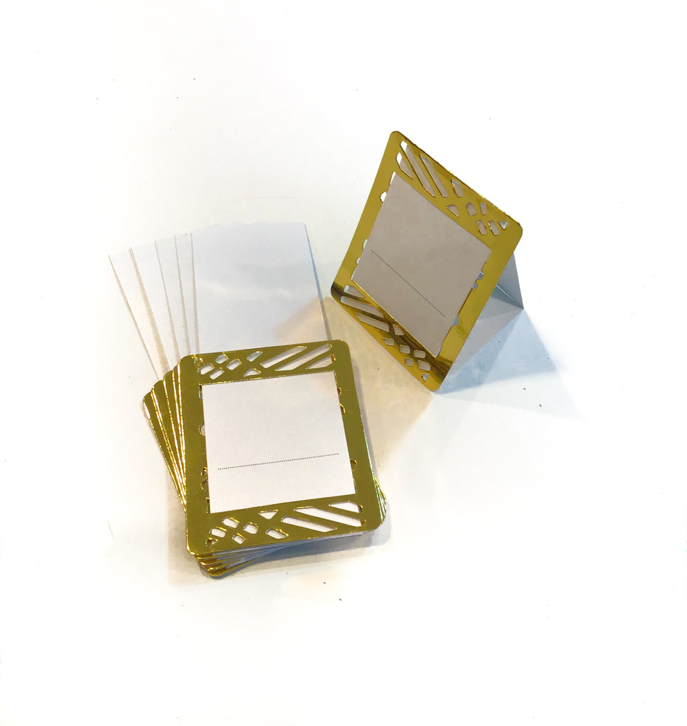 Gold Place Cards (Pack of 20)(Weave) - Place Matters