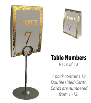 Gold Table Numbers (Pack of 12) (Weave) - Place Matters