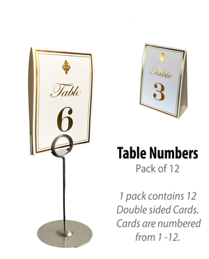 Gold Table Numbers (Pack of 12)