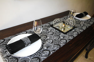 Black Table Runners (Milano) - Place Matters