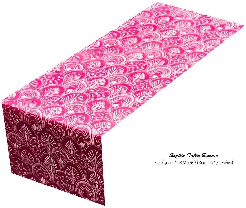 Pink Table Runners (Milano) - Place Matters