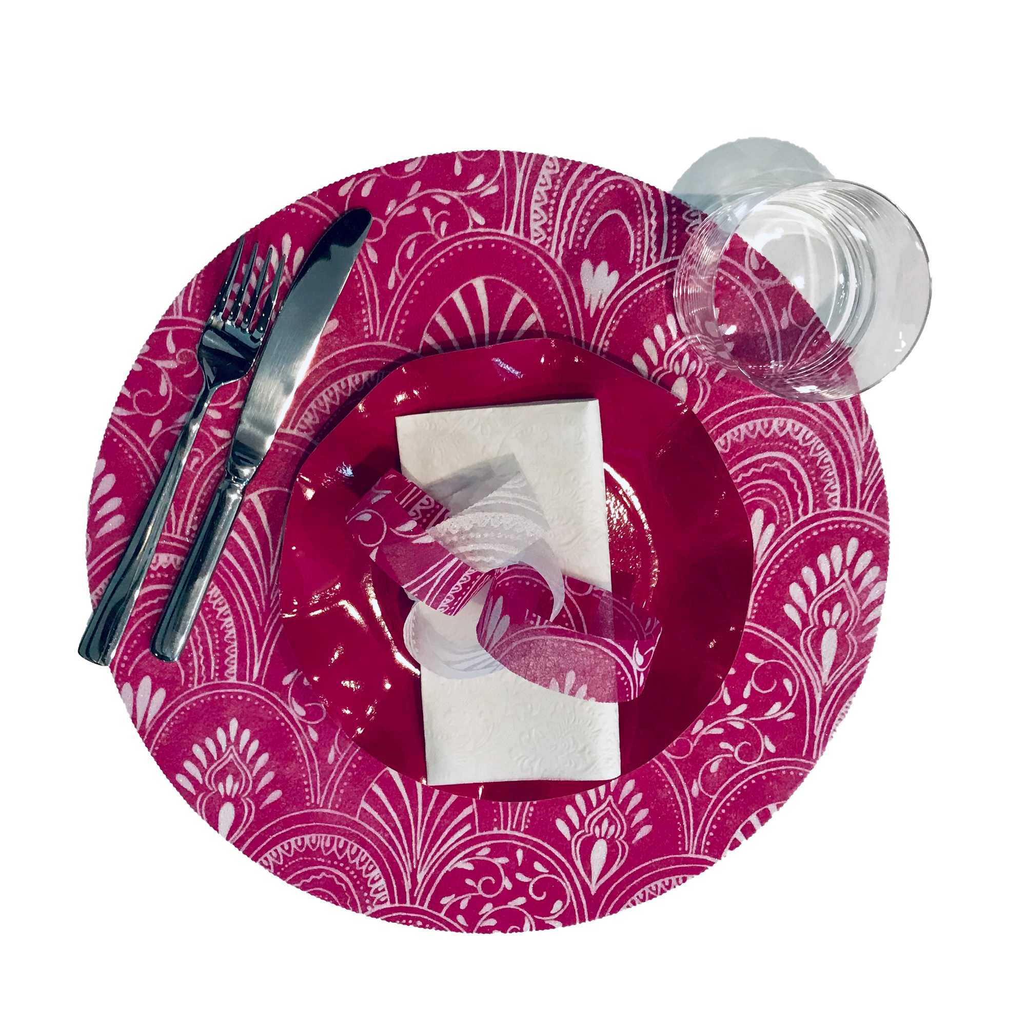 Pink Placemats (Milano) Pack of 20 (Round) - Place Matters