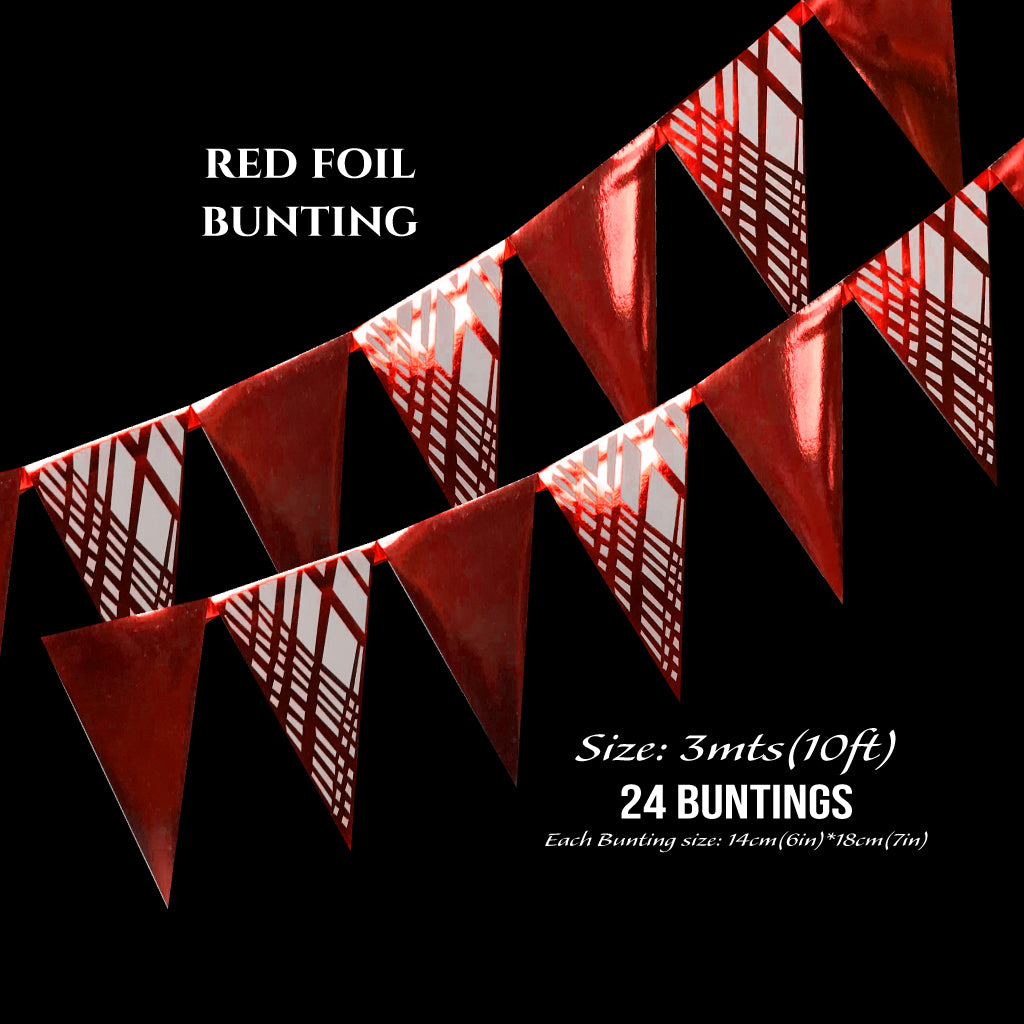 Red Foil Buntings (Weave) - Place Matters