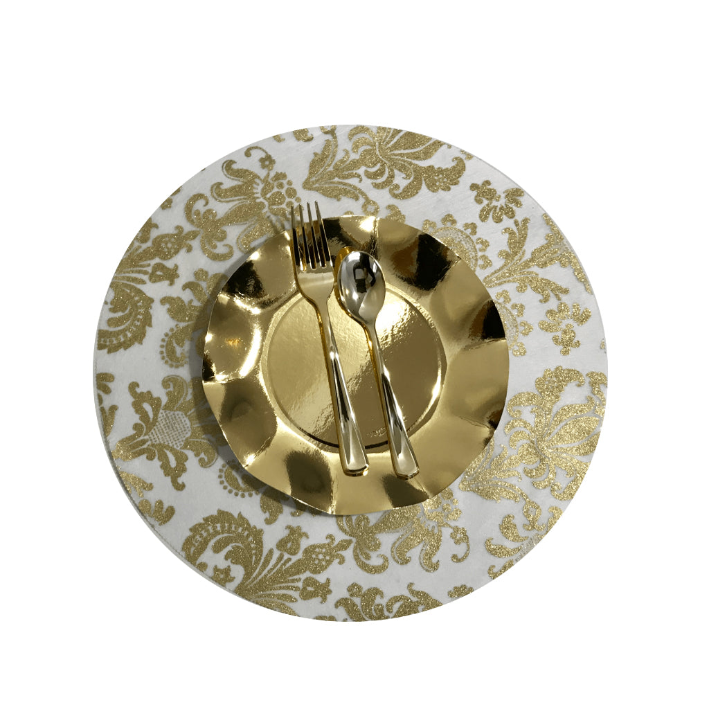 Gold Placemats (Royale Design)(Round) - Place Matters