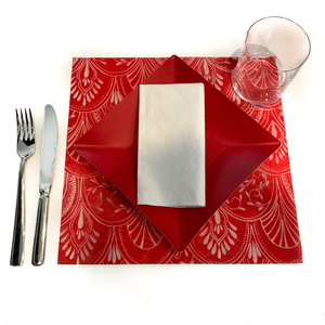 White Placemats (Milano) Pack of 20 (Square) - Place Matters