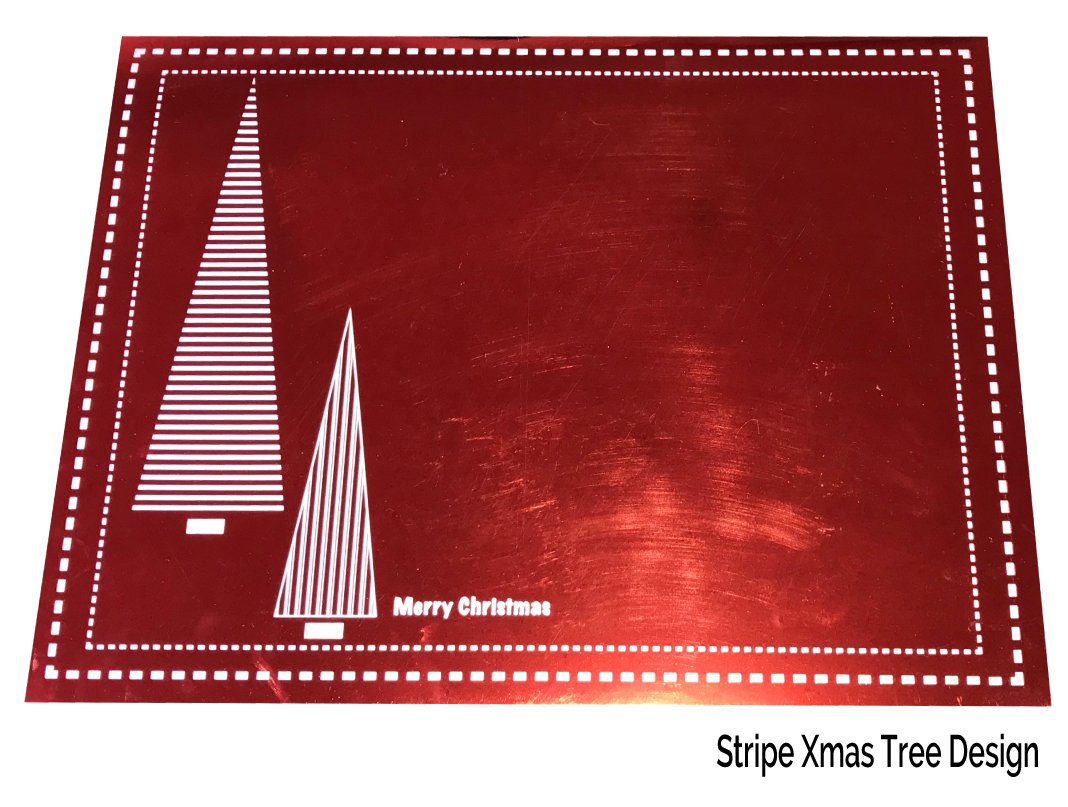 Red Christmas Placemats Pack of 20 (Stripe Xmas Tree) - Place Matters