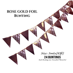Rose Gold Foil Buntings (Weave) - Place Matters