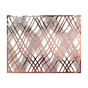Copper Placemats (Weave) Pack of 20 (Rectangle) - Place Matters