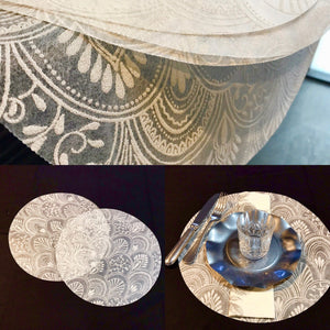 White Placemats (Milano) Pack of 20 (Round) - Place Matters
