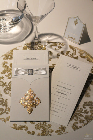 Gold Invitations