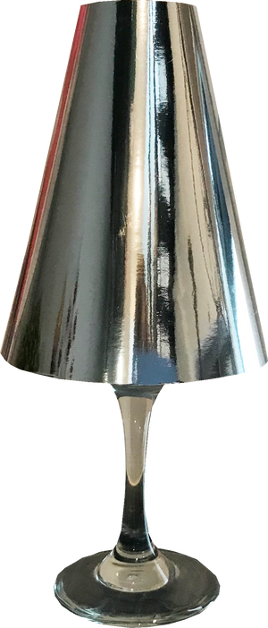 Silver Wine Glass Lamp Shades (Pack of 6) - Place Matters