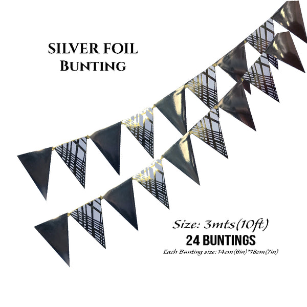 Silver Foil Buntings