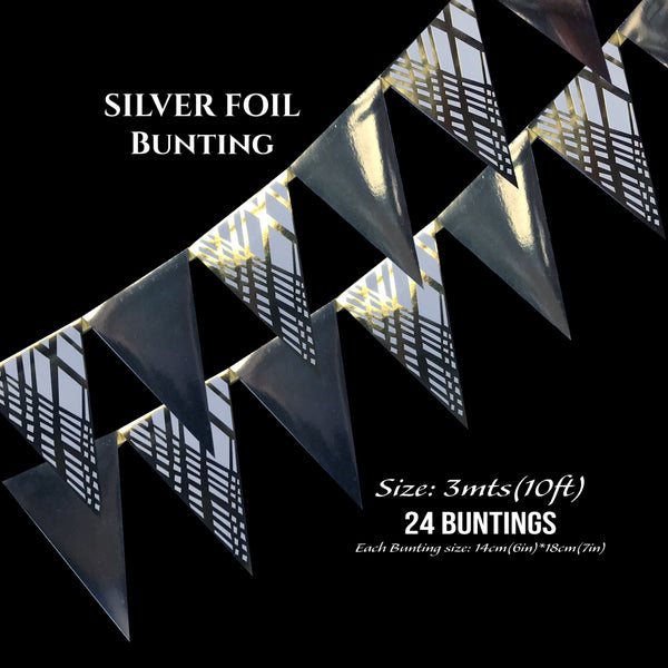 Silver Foil Buntings - Place Matters
