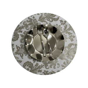 Silver Placemats (Royale) Pack of 20 (Round) - Place Matters