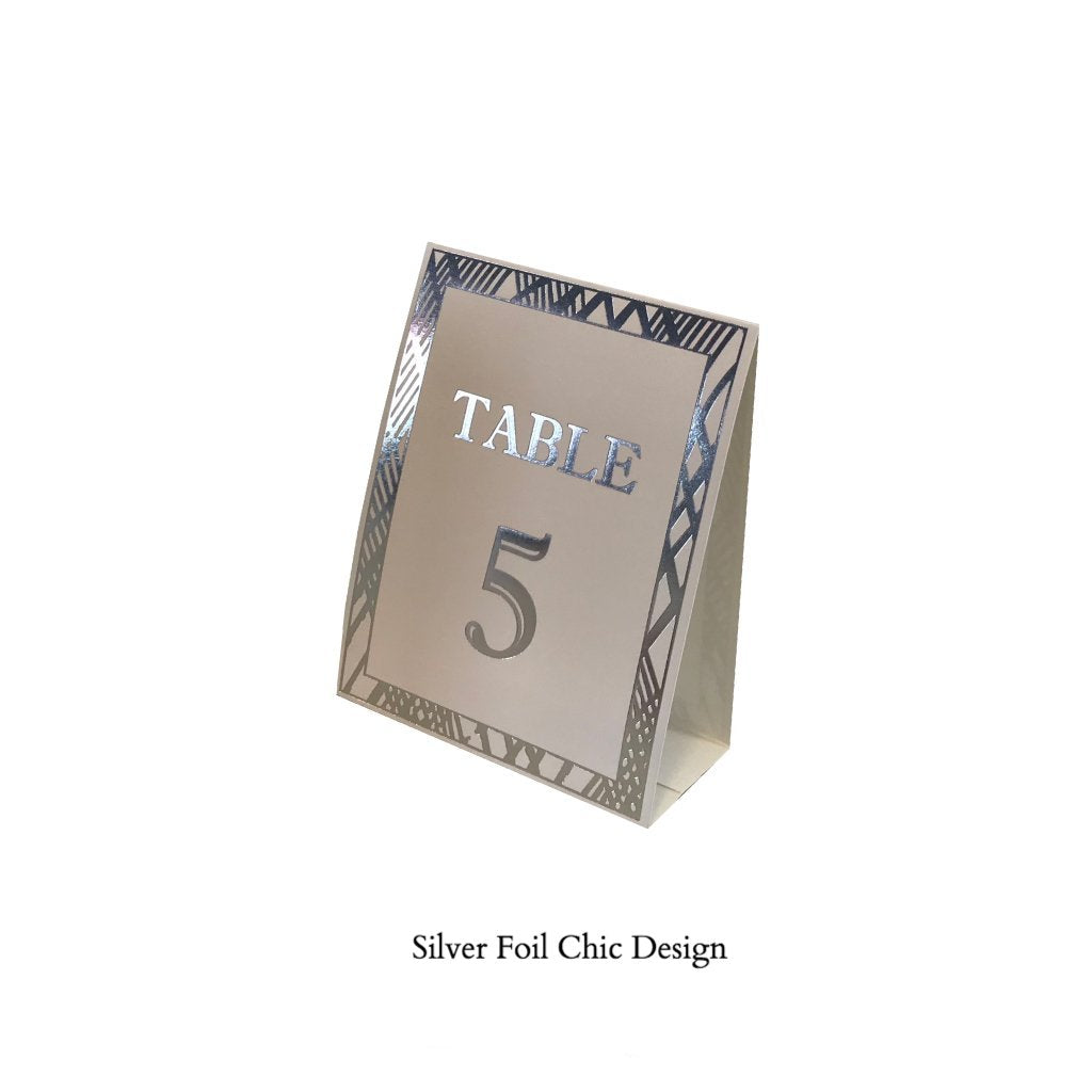 Silver Table Numbers (Pack of 12) - Place Matters