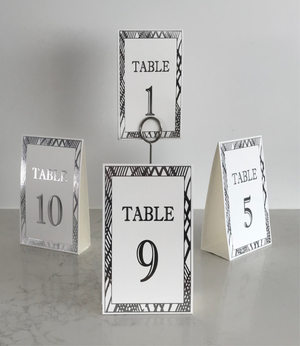 Silver Table Numbers (Pack of 12) (Weave) - Place Matters