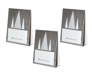 Silver Place Cards (Pack of 20)(Christmas Stripe) - Place Matters