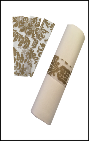 Gold Napkin Wraps (Royale Design) - Place Matters