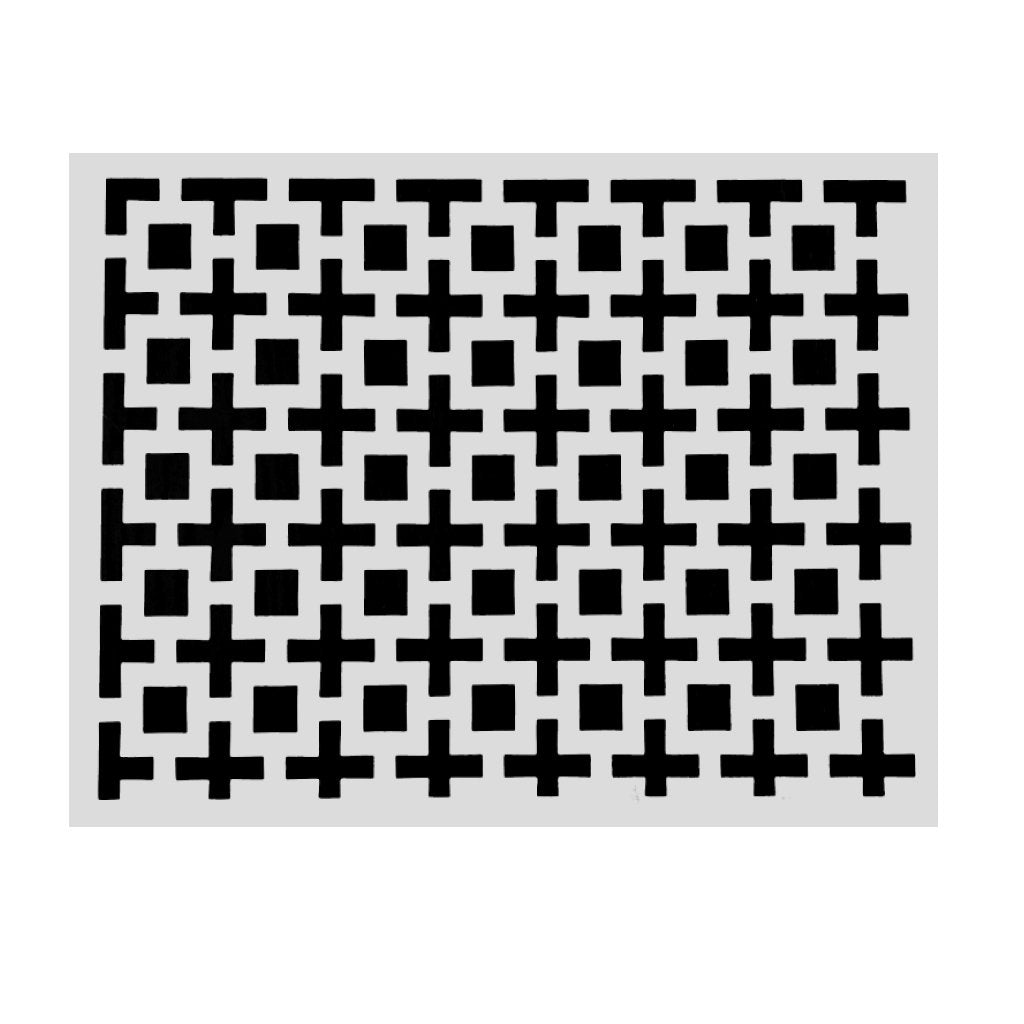 White Placemats Amazing Squares (Rectangle) - Place Matters