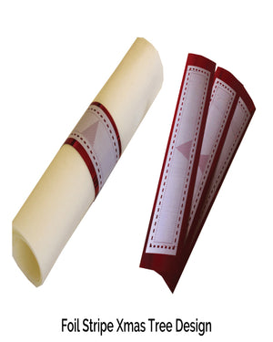 Christmas Red Napkin Wraps (Stripe Xmas Tree) - Place Matters