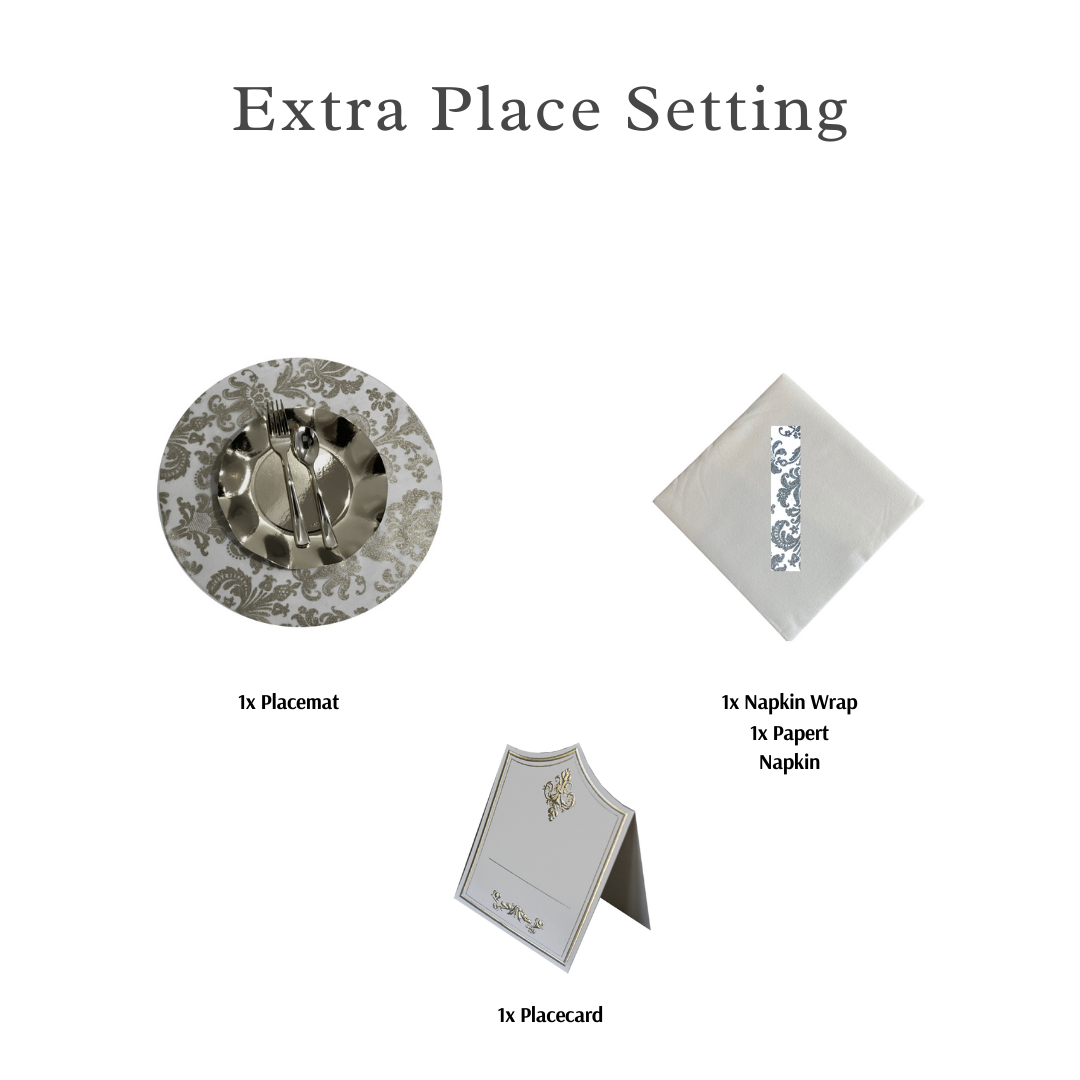 Single Place Setting (Royale Round Design Silver)PC - Place Matters
