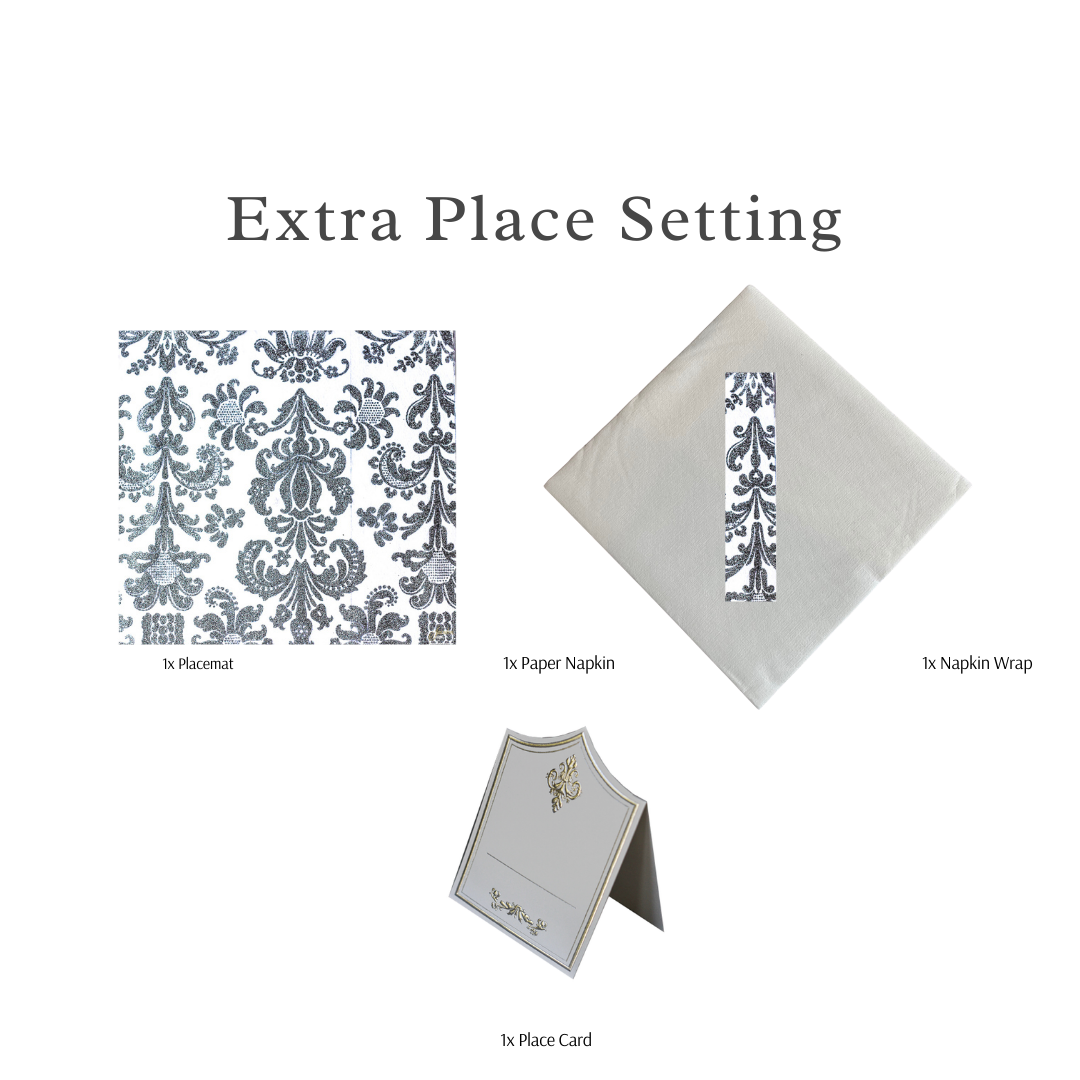 Single Place Setting (Royale Square Design Silver)PC - Place Matters
