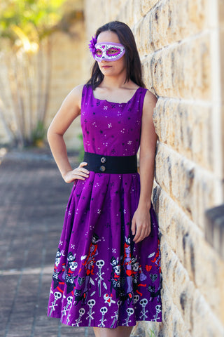 'LANA' PURPLE WITCH DOCTOR DRESS