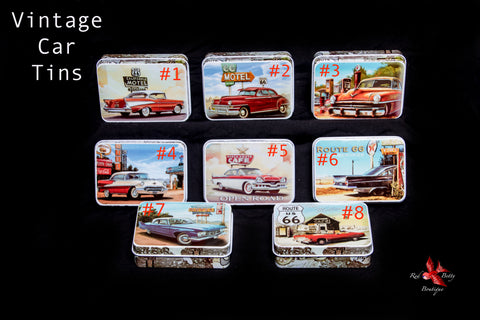 VINTAGE CAR COLLECTOR TINS