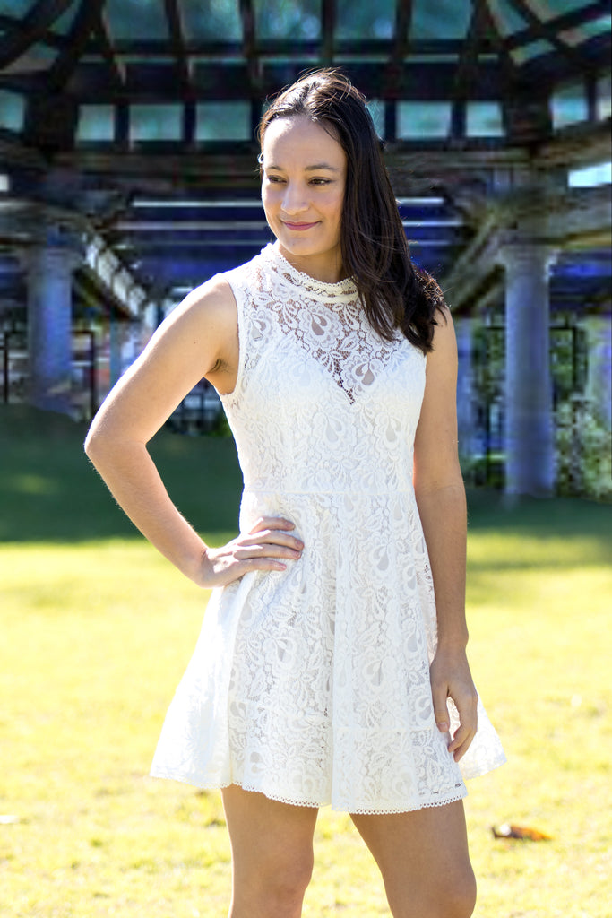 MIA WHITE LACE DRESS