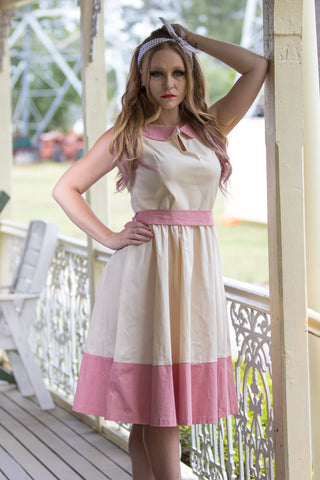 BEATTIE CREAM SWING DRESS BY LINDY BOP